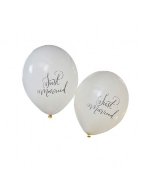"10 ballons ""Just Married"""