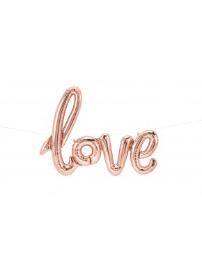 Guirlande Love - Rose gold